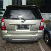 (lot 41) 1 unit kendaraan roda 4 merk Toyota , Kijang Inova G, 1998 CC , Tahun 2012 , Silver Metalik, Nopol L 1706 NO