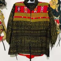 Ita Selaras : Model Blus Wanita Tenun Ende kombinasi Tenun Buna dari NTT Flores