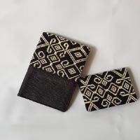 INDHE (UMKM)-Lot5-Paket Bisnis yaitu 1 name card wallet tenun NTT ukuran 8x10 cm dan 1 passport case wallet tenun NTT ukuran 10x14.5 cm