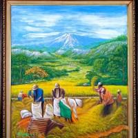7. UMKM. Satu buah lukisan panen ukuran 70x80 cm