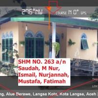 6. BRI Langsa 05-11: Sebidang tanah seluas 359 m2 berikut bangunan rumah diatasnya, di Jln Desa Sungai Pauh Tanjong Kecamatan Langsa Barat