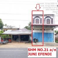 3. BRI langsa 05-11: Sebidang tanah seluas 112m2 berikut bangunan toko diatasnya, di Jln. Medan Banda Aceh Desa Blang Pauh Sa Kec. Julok