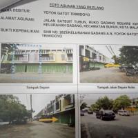 1 bidang tanah SHM No.2623, luas 77 m2 berikut bangunan di Kel. Gadang, Kec. Sukun, Kota Malang