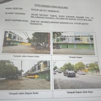 1 bidang tanah SHM No.2619, luas 77 m2 berikut bangunan di Kel. Gadang, Kec. Sukun, Kota Malang