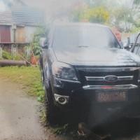Balitbangkes Papua: Ford Ranger Double Cabin (4x4) XLT 3.0L M/T Hitam Tahun 2011 Nopol DS 5765 AE, RUSAK BERAT