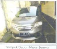 Tim Kurator Johan Konggidinata (Dalam Pailit):Kendaraan Mobil NISSAN SERENA 2.0 HWSTAR 4X2 AT Tahun 2013, dengan Nomor Polisi B 1196 PZN