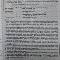 BNI: T/B lt 414 m2 SHM No. 3484 Jl.Kembar BAru RT 01/04, Kel. Cigereleng Kec. Regol Kota BAndung