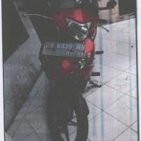1 (satu) unit Sepeda Motor Yamaha Jupiter MX 135 Tahun 2008 No Pol DB 6035 MN kondisi rusak berat