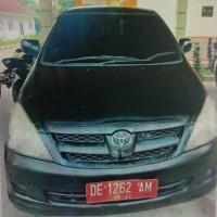 LPMP Maluku : 1 unit kendaraan roda empat merk/type Toyota Innova Tahun 2007 No Polisi DE 1262 AM kondisi rusak berat