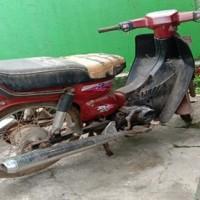 Lot. 11. 1 unit Sepeda Motor Suzuki RC100 Tahun1997, Nomor Polisi  DD 6897 U, di Kemenag. Tana Toraja