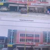 Sebidang tanah luas 89 m2, SHM + bangunan ruko di Bandar Lampung