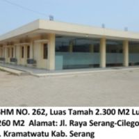 Bukopin:Sebidang tanah seluas 2.300 m2, SHM No.262,Raya Serang-Cilegon KM.9 Kramatwatu, Kab. Serang