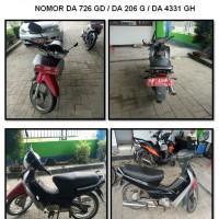 Stasion Meteorologi melelang 1 (satu) unit sepeda motor Honda Supra X, warna Merah,tahun pembuatan 2002, nomor polisi DA 206 G
