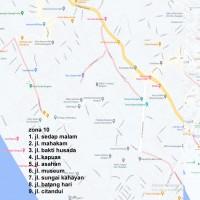 6. Zona 10 (Jalan Sedap Malam, Jl Mahakam, Jl. Bhaktu Husada, Jl. Kapuas, Jl. Asahan, Jl. Batang Hari)