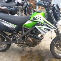 BPS Kotabaru-1 (satu) buah Sepeda motor dengan kondisi rusak berat merk/tipe : Kawasaki LX150D (D-Tracker), Hijau, No. Polisi DA 5437 IZ,