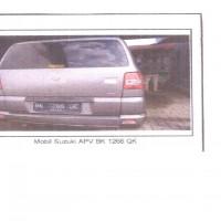 6.Kurator PT Yasanda, 1 unit kendaraan roda 4 merek Suzuki APV tahun 2011 BK 1266 QK