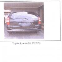 7.Kurator PT Yasanda, 1 unit kendaraan roda 4 merek Toyota Avanza Warna Hitam Metalik type 1300E  tahun 2006 BK 1372 EK