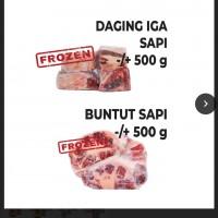 Lot 1. 1 (satu) paket daging iga dan buntut sapi frozen dalam kondisi apa adanya (PT PWU)