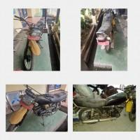 KanimSkw:4.Ranmor R.2 Yamaha YT Th.2007,Nopol KB 3480 YA,Noka: MH33WL0046K177456,Nosin: 3HB-364570, kondisi rusak berat.