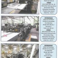 Kurator PT Jaya ST: Lot 2: Mesin-mesin dan peralatan, Stock barang, dan Inventaris di Jl Raya Klari No 45, Ds Gintungkerta, Klari, Karawang.
