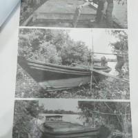 1 (satu) paket barang bukti rampasan kejaksaan Palingkau berupa kapal kayu dan bahan bakar jenis solar