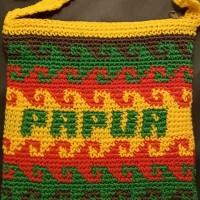 LOT 9: Tas Rajut Motif Pulau Papua