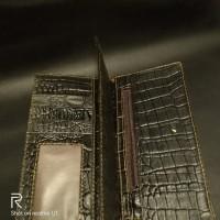 LOT 6: Dompet Panjang Kulit Buaya, Warna Coklat
