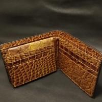 LOT 7: Dompet Pendek Kulit Buaya, Warna Coklat