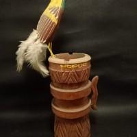 LOT 27: Asbak cendrawasih bahan dari kayu