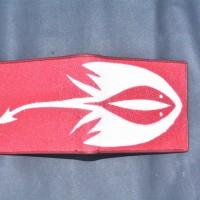 LOT 31: Dompet Pendek Kulit Ikan Pari, Warna Merah dan Putih