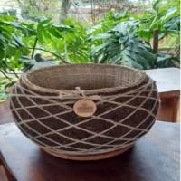 1 (satu) buah Pot Eco Moss Kokedame, Diameter 20 cm