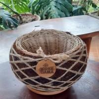 1 (satu) buah Pot Eco Moss Kokedame, Diameter 25 cm