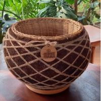 1 (satu) buah Pot Eco Moss Kokedame, Diameter 30 cm