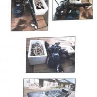 Lot 4, 1 unit bodi long boat, 1 unit mesin 15 PK Merk Yamaha, 1 unit mesin kompresor (Rampasan Kejari Halmahera Selatan)