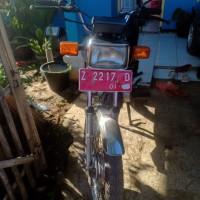 KPP Garut 7. Motor Honda MCB Win, Th.2001, No.Pol  Z 2217 D, kondisi rusak berat (BPKB TIDAK ADA, STNK TIDAK ADA)