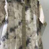 UMKM 8: Kemeja Pria Ecoprint motif daun Ceri kombinasi Krem uk. M di Kota Singkawang