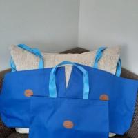 UMKM : Lot 11. 2 (dua) lusin Tote Bag warna warni Kain Dinier Polyester D600Ukuran 35cmx35cm