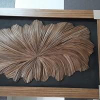 UMKM Kerajinan Lidi (8) : Natural Abstrak Ukuran 60 cm x 110 cm