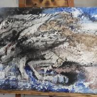 UMKM Kerajinan Lidi (7) : Lukisan Kuda Ukuran 60 cm x 90 cm