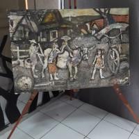 UMKM Kerajinan Lidi (6) : Lukisan Pedesaan Ukuran 60 cm x 90 cm