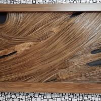 UMKM Kerajinan Lidi (9) : Natural Abstrak Ukuran 60 cm x 110 cm
