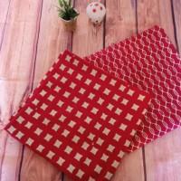 UMKM Batik Garutan (8) : 2 lembar kain batik cap RM Garutan warna merah-putih