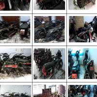 Pemda Ciamis : 20 motor berbagai merk/type/th.perolehan, kondisi rusak berat dan 18 buah scrap bekas motor dijual satu paket