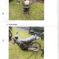 Paldam I/BB -8. 1 (satu) unit Sepeda Motor merk/type Suzuki TS 125, Tahun Pembuatan 2004, kondisi rusak berat dengan nomor Reg 8602-I