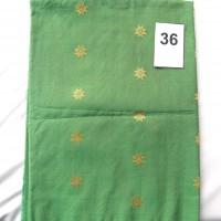 LOT36. 1 (SATU) BUAH BAHAN TENUN BATUBARA WARNA HIJAU MOTIF BINTANG2, Uk; 3  m (DEKRANASDA SUMUT)