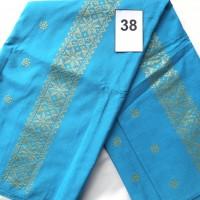 LOT38. 1 (SATU) BUAH BAHAN TENUN BATUBARA WARNA BIRU MOTIF BINTANG BINTANG, Uk; 3  m (DEKRANASDA SUMUT)