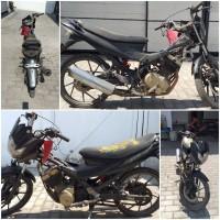 Kejari Kab.Probolinggo Lot 12) Sepeda motor merk Suzuki Satrea FU tanpa nopol warna hitam tanpa STNK maupun BPKB
