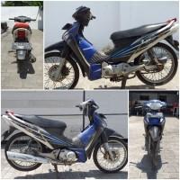Kejari Kab.Probolinggo Lot 30) Sepeda motor merk Honda Supra X 125 nopol BM-3913-CJ warna biru putih tanpa STNK maupun BPKB