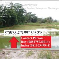 SUMUTPR - Sebidang tanah seluas 1.354 m² yang diatasnya terdapat kolam ikan berikut yang ada diatasnya terletak di Desa Kandangan, Kec.