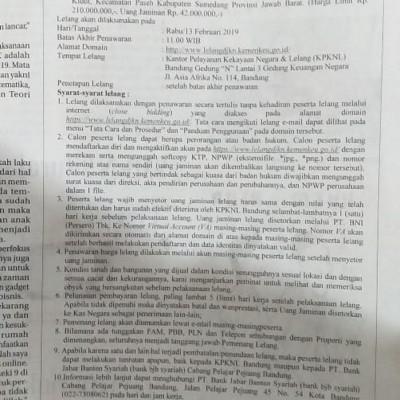 BJB Syariah Pelajar Pejuang: Tanah darat ls. 3000 m2 SHM 1265 di Blok Batukarut, Ds. Paseh Kidul, Kec. Paseh, Kab. Sumedang